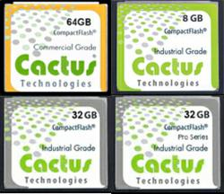Cactus Technologies CompactFlash Offerings